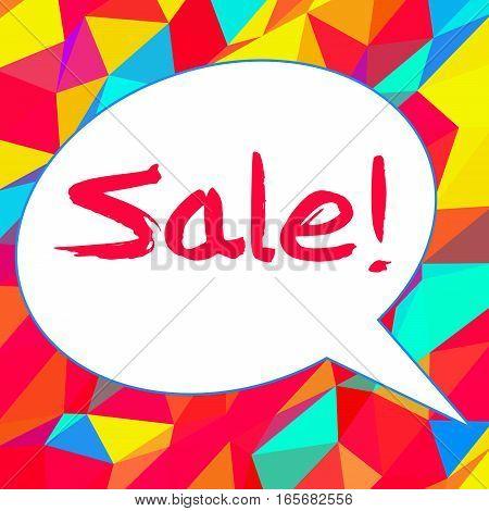 Sale In Speech Bubble