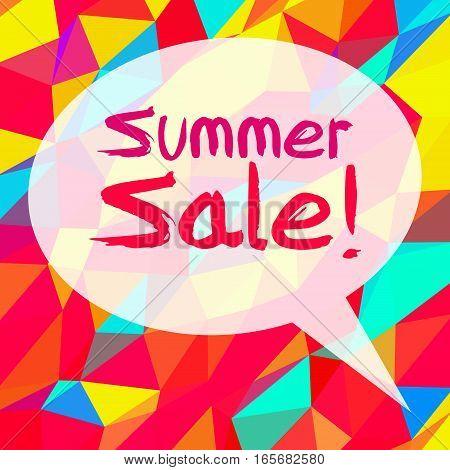 Summer Sale In Speech Bubble