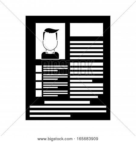curriculum vitae page over white background. human resources design. vector illustration