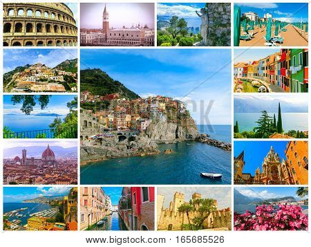 The collage from images of Italy- my photos