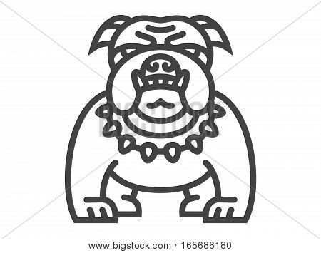 Bulldog icon - vector illustration on white background
