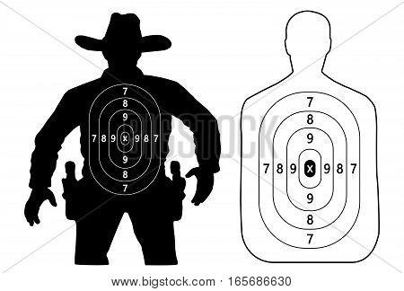 target cowboy duel and contour human target