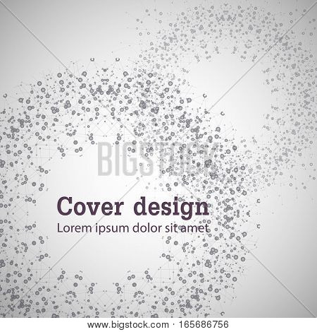 Abstract vector illustration with modern islam ornament.