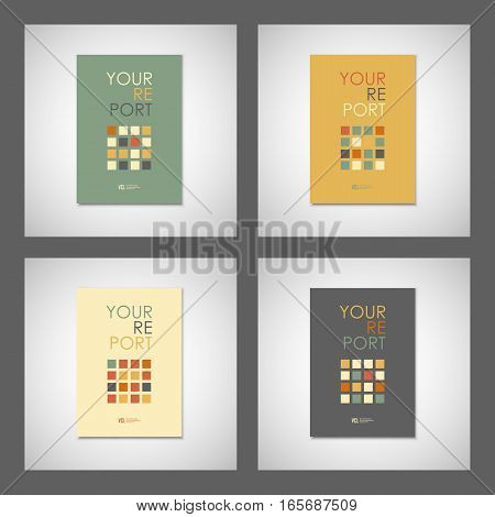 Set vector simple brochure design for your report.