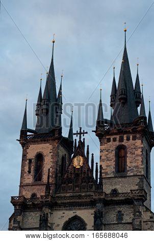 Church of Our Lady Before Tyn detail, Prague, Czech Republic