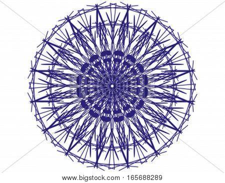 Blue Mandala Circle