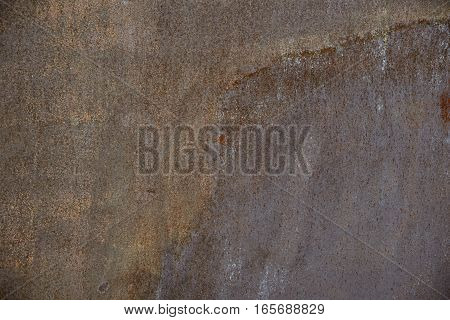Rusted metal background. Rough stain surface texture.