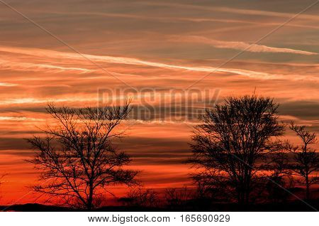 landscape silhouette sky waves clouds orange shadow