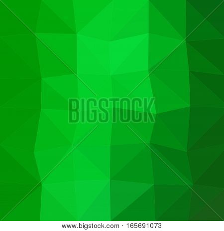 Green geometric rumpled background. Low poly style gradient illustration. Graphic background.