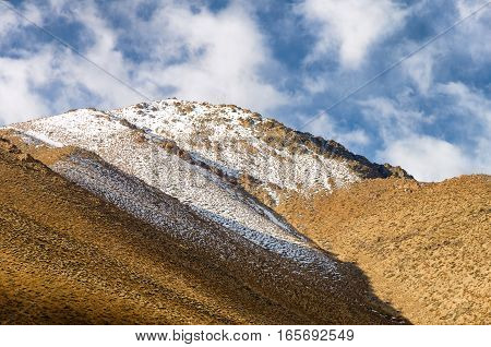 Snow mountain in the Elquie Valley region of Chile