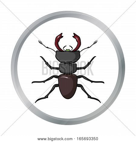 Forest red ant icon in cartoon design isolated on white background. Insects symbol stock vector illustration.