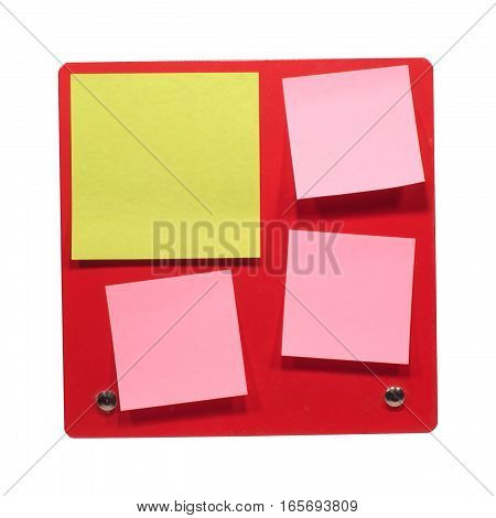 Many small color post paper close-up isolated on white