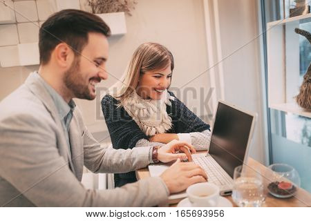 Working In A Cafe
