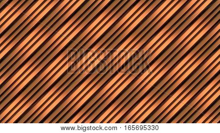 Golden color wave band abstract texture surface pattern. 3d rendering