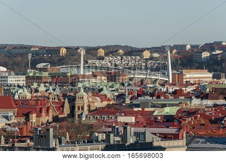 Gothenburg city view from above, travel Sweden