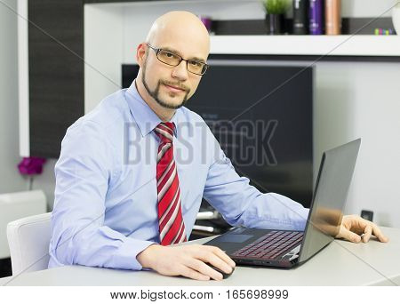 CEO preparing to interview online a new possible candidate.