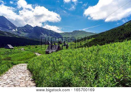 Beautiful scenery of Tatra mountains. Poland .