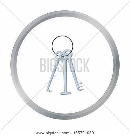 Hacker's lockpicks icon in cartoon design isolated on white background. Hackers and hacking symbol stock vector illustration.