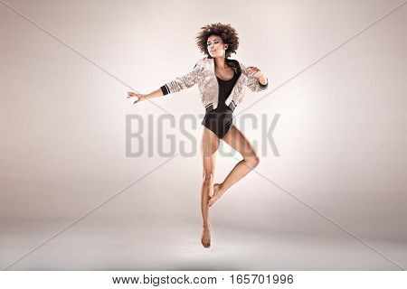 Modern Style Dancer In Studio.