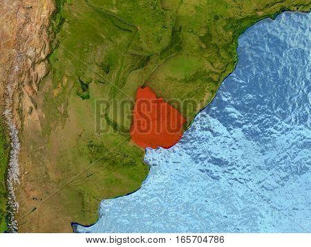 Uruguay In Red