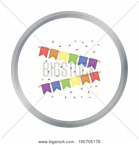 Flags icon cartoon. Single gay icon from the big minority, homosexual cartoon. - stock vector