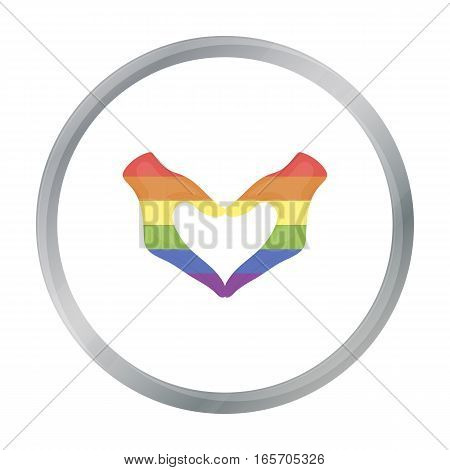 Hands icon cartoon. Single gay icon from the big minority, homosexual cartoon stock vector - stock vector