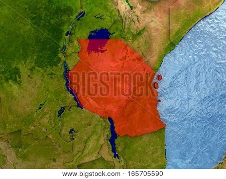 Tanzania In Red