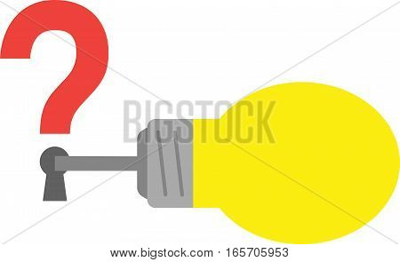 Light Bulb With Key And Question Mark Keyhole