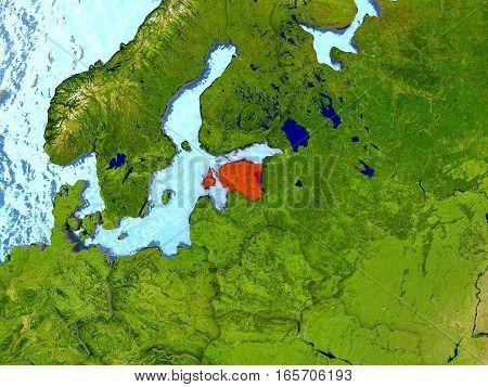 Estonia In Red