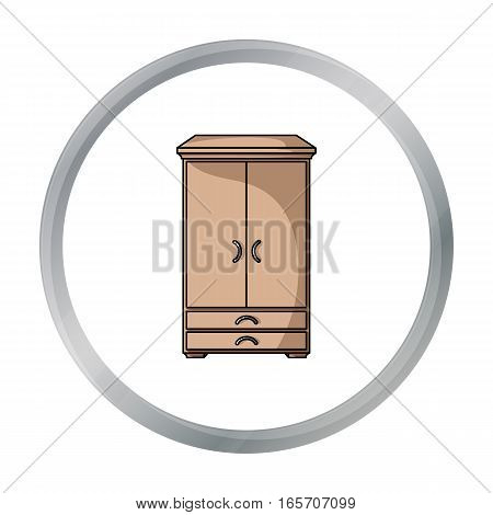 Closet icon in cartoon style isolated on white background. Furniture and home interior symbol vector illustration.