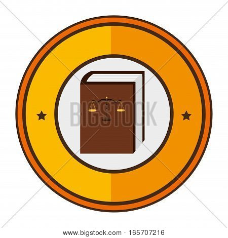 justice book isolated icon vector illustration design