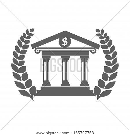 court house building icon vector illustration design