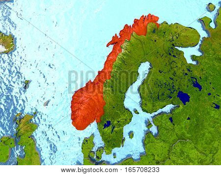 Norway In Red