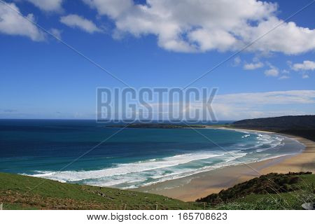 Beach on the South Island of New Zealand