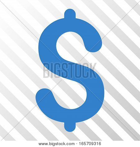 Cobalt Dollar interface pictogram. Vector pictograph style is a flat symbol on diagonal hatch transparent background.