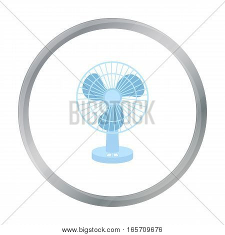 Fan icon in cartoon style isolated on white background. Household appliance symbol vector illustration.