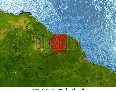 Suriname In Red