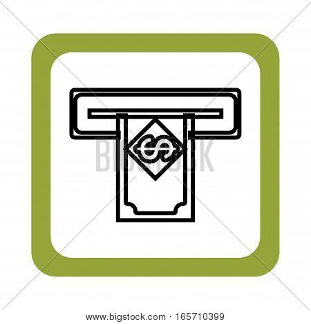 money dispenser hole icon vector illustration design