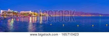 Panorama Of Night Eilat