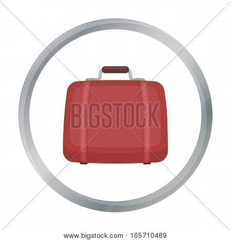 Luggage icon in cartoon style isolated on white background. Hotel symbol vector illustration.