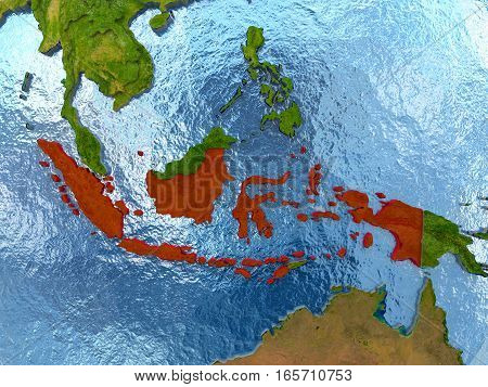 Indonesia In Red