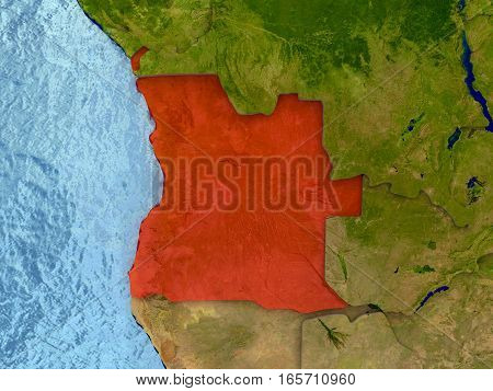 Angola In Red