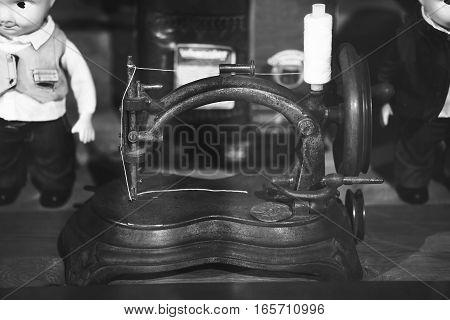 very old sewing machine. vintage sewing machine