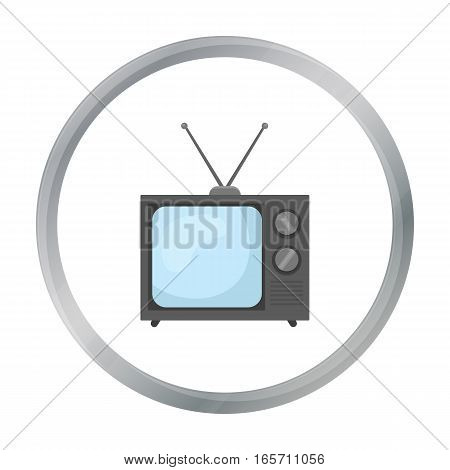 Television advertising icon in cartoon style isolated on white background. Advertising symbol vector illustration.