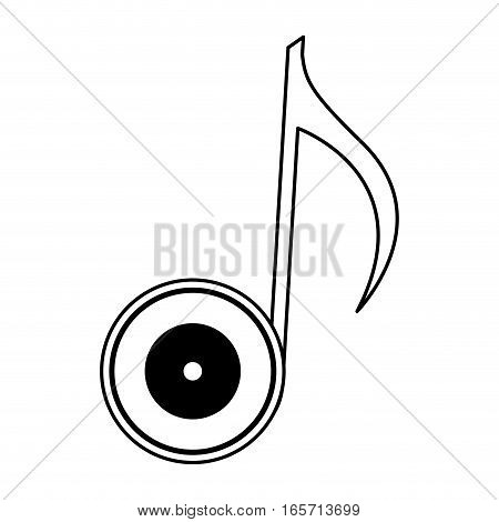 vinyl with music note vector illustration design