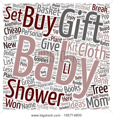 Cheap Baby Shower Gifts Thoughtful Ideas That Won t Break The Bank text background wordcloud concept