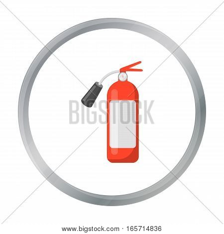 Fire extinguisher icon cartoon style. Single silhouette fire equipment icon from the big fire Department cartoon.
