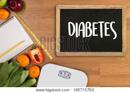 A Diabetes Test,  Health Medical Concept , Obesity , Blood Test For Diabetes