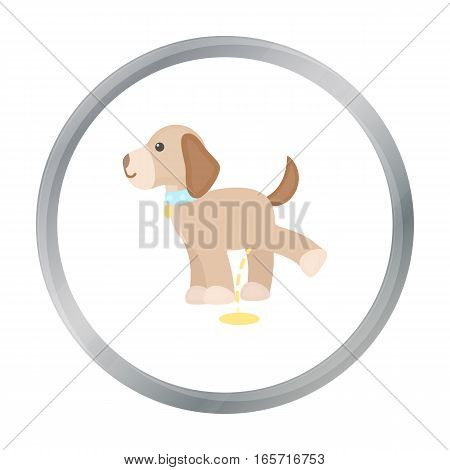 Pissing dog vector illustration icon in cartoon design