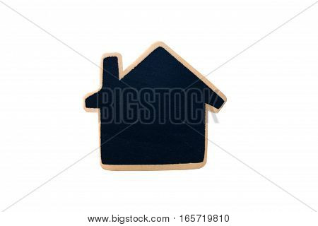 wooden house or home  model on white background
